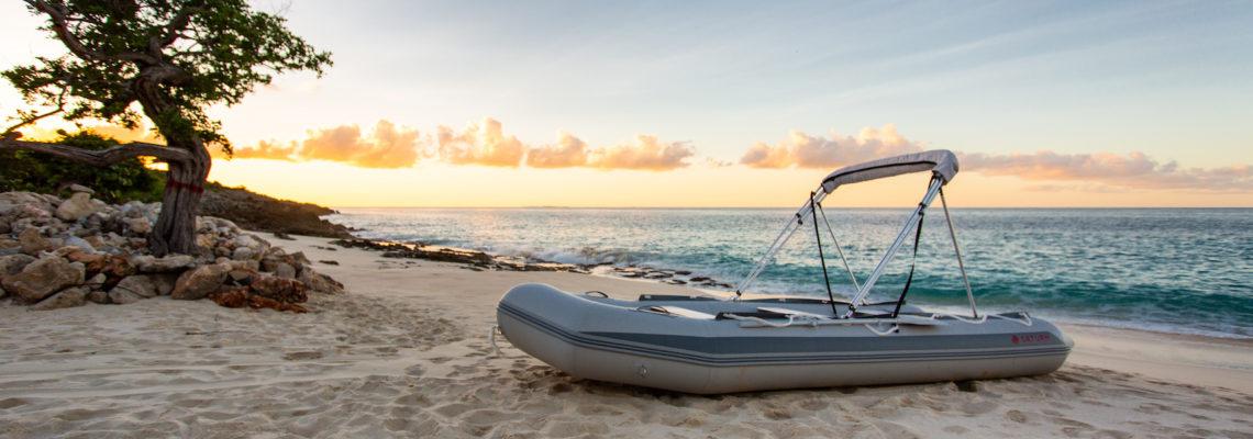 Beach House luxury villa Limestone Bay Anguilla Boat