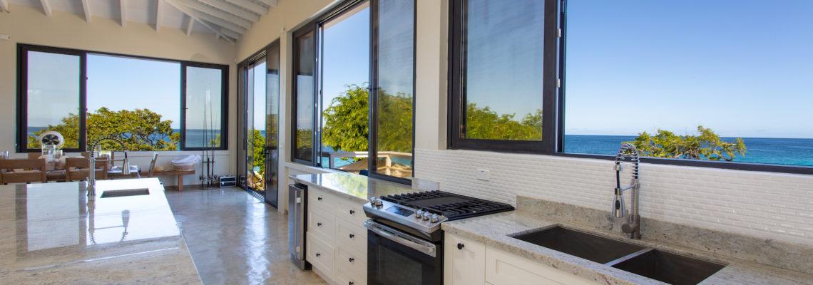 Beach House luxury villa Limestone Bay Anguilla kitchen
